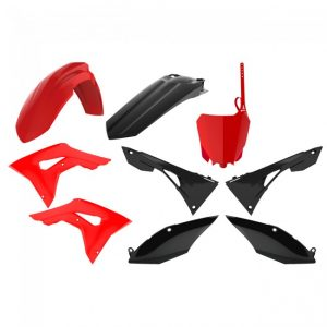 Polisport Plastic Kit Honda CRF450R 2017-2019, CRF250R 2018-2019 Red/Black