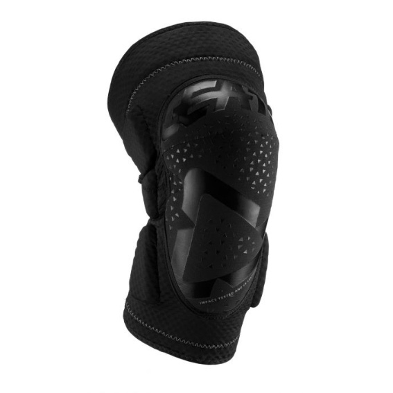 Leatt 3DF 5.0 Knee Guards Adult Black - leatt kneeguard 3df5.0 blk frontleft 5019400530
