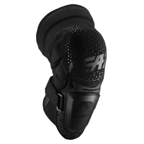 Leatt 3df hybrid knee guards adult black - leatt kneeguard 3dfhybrid blk frontright 5019400650