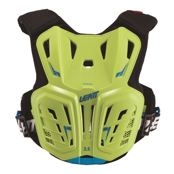 Leatt 2. 5 junior youth chest protector lime/blue - chest protector 2. 5 lime blue jr 2