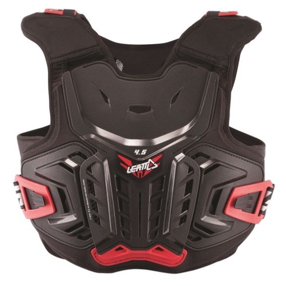 Leatt 4. 5 junior youth chest protector black/red - chest protector 4. 5 black red jr 1 1