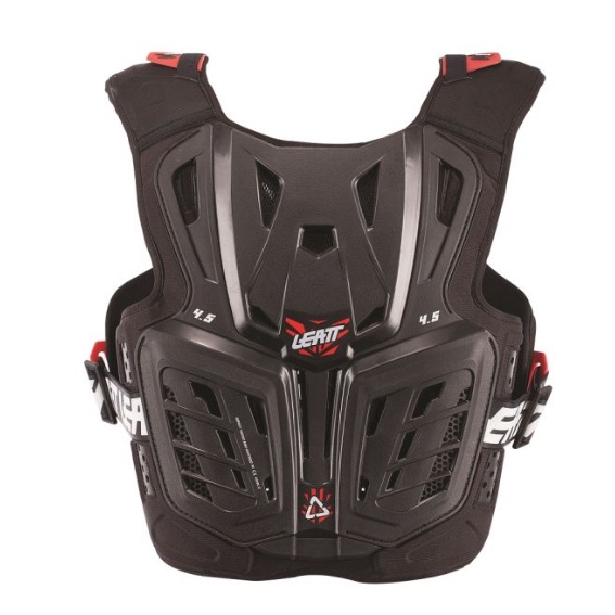 Leatt 4. 5 junior youth chest protector black/red - chest protector 4. 5 black red jr 2 1