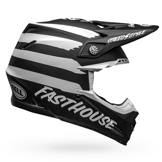 Bell moto-9 mips fasthouse signia helmet black/white - fasthouse