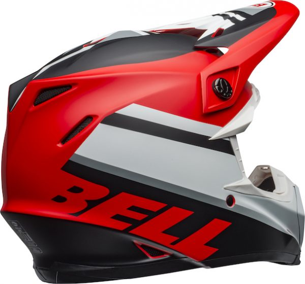 Bell moto-9 mips prophecy helmet white/red/black - bell moto 9 mips dirt helmet prophecy matte white red black back right