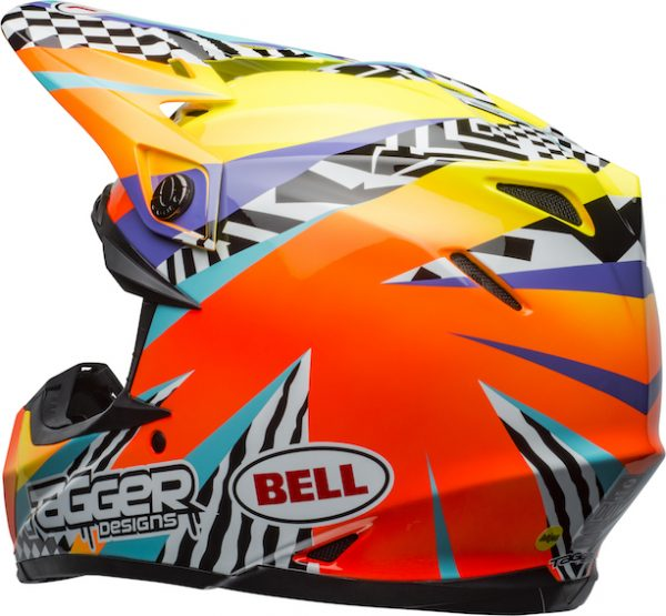 Bell Moto-9 Mips Tagger Breakout Helmet Orange/Yellow - bell moto 9 mips dirt helmet tagger breakout gloss orange yellow back left