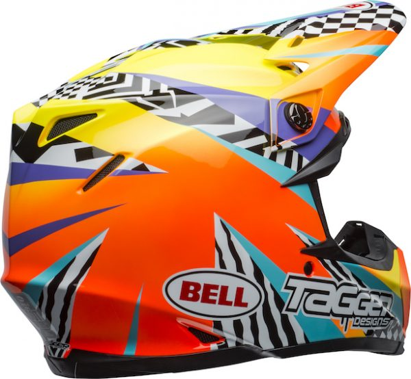 Bell Moto-9 Mips Tagger Breakout Helmet Orange/Yellow - bell moto 9 mips dirt helmet tagger breakout gloss orange yellow back right