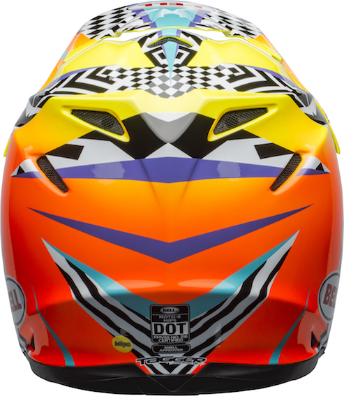 Bell Moto-9 Mips Tagger Breakout Helmet Orange/Yellow - bell moto 9 mips dirt helmet tagger breakout gloss orange yellow back