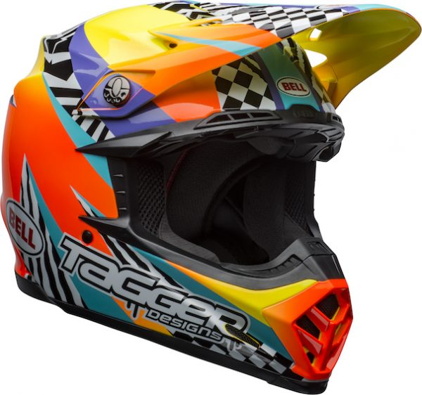 Bell Moto-9 Mips Tagger Breakout Helmet Orange/Yellow - bell moto 9 mips dirt helmet tagger breakout gloss orange yellow front right
