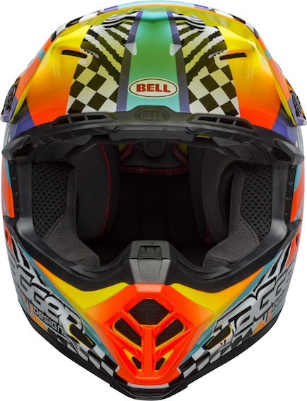 Bell Moto-9 Mips Tagger Breakout Helmet Orange/Yellow - bell moto 9 mips dirt helmet tagger breakout gloss orange yellow front