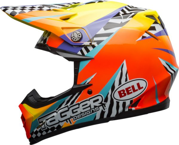 Bell Moto-9 Mips Tagger Breakout Helmet Orange/Yellow - bell moto 9 mips dirt helmet tagger breakout gloss orange yellow left