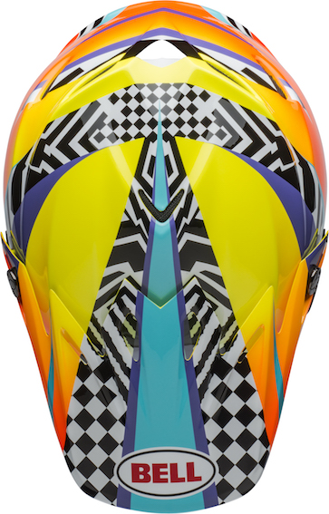 Bell Moto-9 Mips Tagger Breakout Helmet Orange/Yellow - bell moto 9 mips dirt helmet tagger breakout gloss orange yellow top