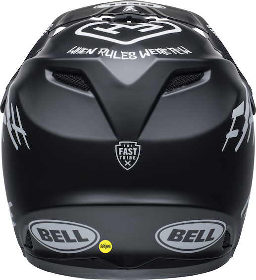 2020 bell youth moto-9 mips fasthouse helmet matte black/white - bell moto 9 youth mips dirt helmet fasthouse matte black white back