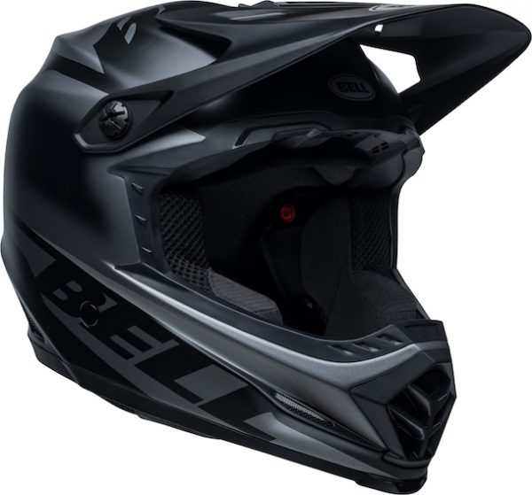 2020 bell youth moto-9 mips glory helmet matte black - bell moto 9 youth mips dirt helmet glory matte black front right