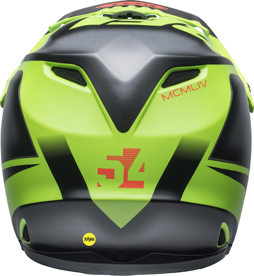 2020 Bell YOUTH Moto-9 MIPS Glory Helmet Matte Green/Black/Infrared - bell moto 9 youth mips dirt helmet glory matte green black infrared back