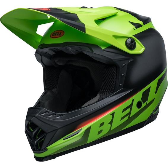 2020 Bell YOUTH Moto-9 MIPS Glory Helmet Matte Green/Black/Infrared - bell moto 9 youth mips dirt helmet glory matte green black infrared front left