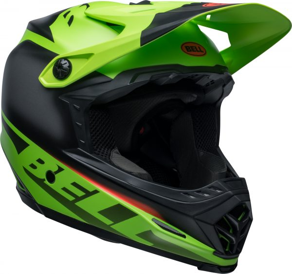 2020 Bell YOUTH Moto-9 MIPS Glory Helmet Matte Green/Black/Infrared - bell moto 9 youth mips dirt helmet glory matte green black infrared front right