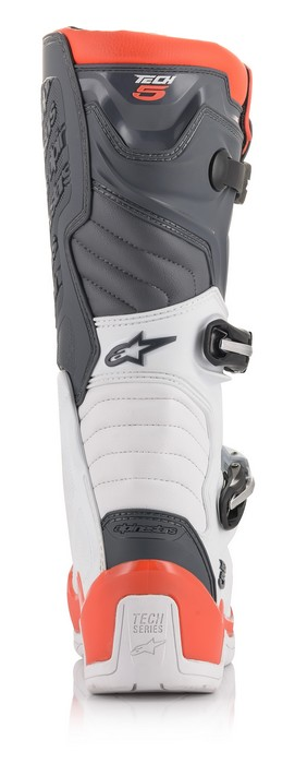 Alpinestars Tech 5 Boot White/Grey/Red Fluo - A15015213309 4