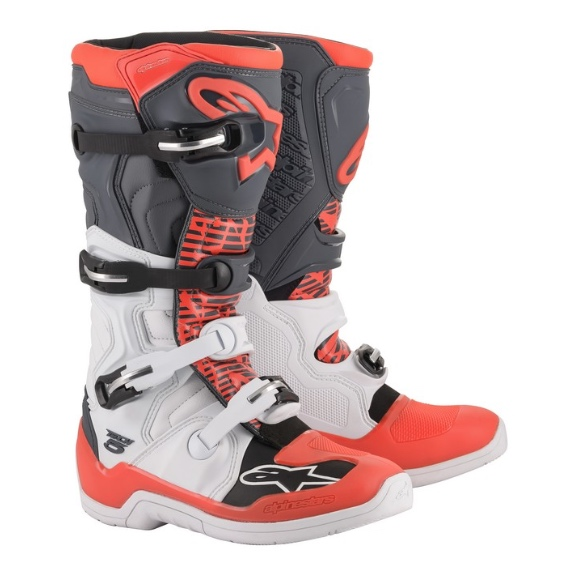 Alpinestars Tech 5 Boot White/Grey/Red Fluo - A15015213309