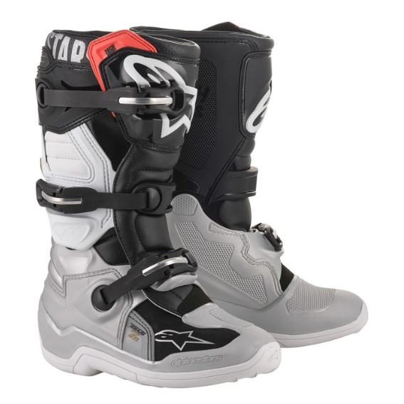 Alpinestars Tech 7s YOUTH Boot Black/Silver/White/Gold - A15017182907