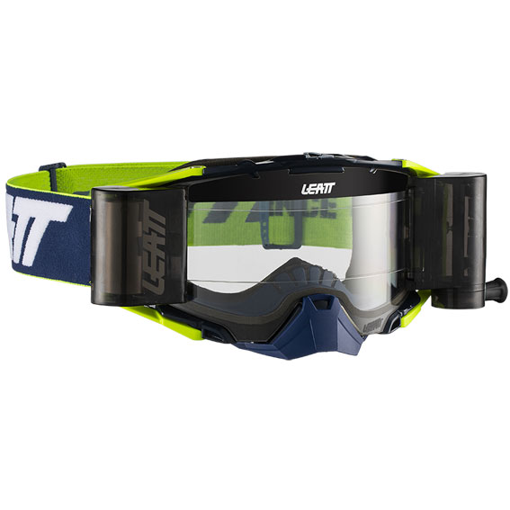 Leatt Velocity 6.5 Roll-Off Goggle Ink/White/Yellow - Clear Lens - leatt goggle velocity 6.5rolloff inkyel primary 8019100052 update 4
