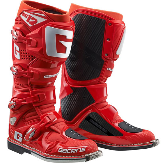 Gaerne SG12 Motocross Boots Solid Red - 2174 085
