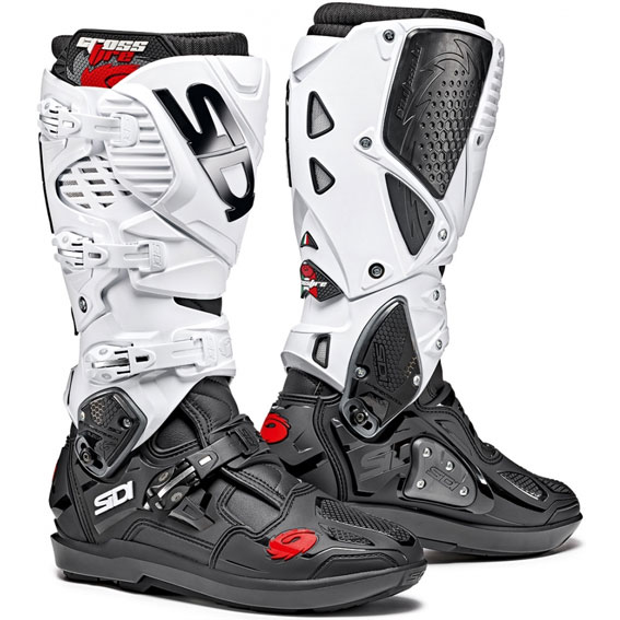 Sidi Crossfire 3 SRS Boots Black/White - 73 299 varianti gallery pop CrossFire3 SRS BlackWhite