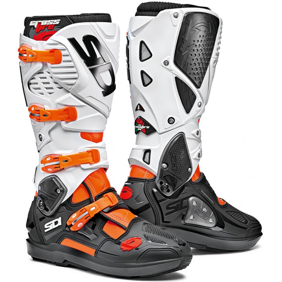 Sidi Crossfire 3 SRS Boots Orange Fluo/Black/White - 73 320 varianti gallery pop CrossFire3 SRS OraFluBlaWhi