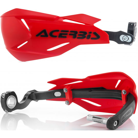 Acerbis x-factory handguards red/black - x factory red black