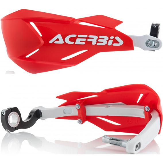 Acerbis x-factory handguards red/white - x factory red white
