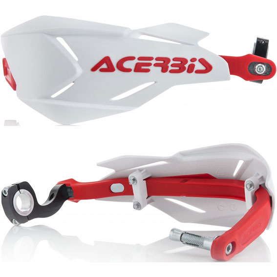 Acerbis x-factory handguards white/red - x factory white red