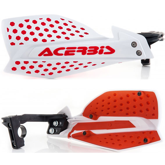Acerbis x-ultimate handguards white/red - x ultimate white red