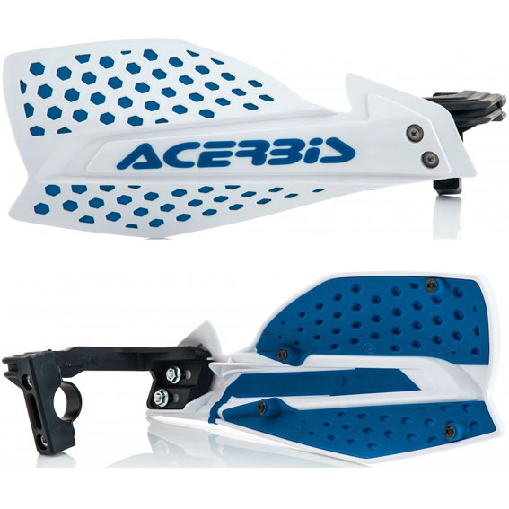 Acerbis x-ultimate handguards white/blue - x ultimate white blue