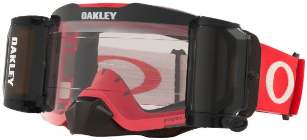 Oakley Front Line MX RR Roll Off Goggle Tuff Blocks Red/Grey - Low Light Prizm Lens - 0OO7087 708745 scaled