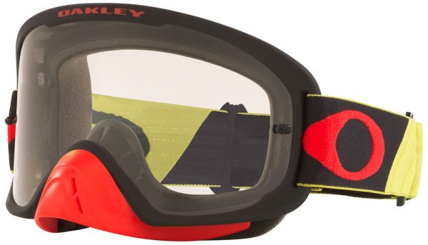 Oakley O Frame 2.0 PRO MX Goggle Tuff Blocks Yellow/Red - Clear Lens - 0OO7115 711525 scaled