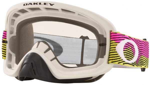 Oakley O Frame 2.0 PRO MX Goggle Rut City Pink/Green - Clear Lens - 0OO7115 711528 scaled