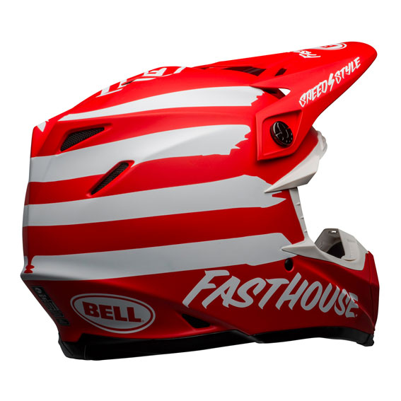 Bell Moto-9 Mips Fasthouse Signature Helmet Red/White - bell moto 9 mips dirt helmet fasthouse signia matte red white back right