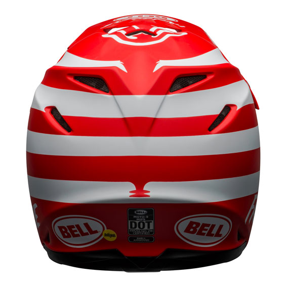 Bell Moto-9 Mips Fasthouse Signature Helmet Red/White - bell moto 9 mips dirt helmet fasthouse signia matte red white back