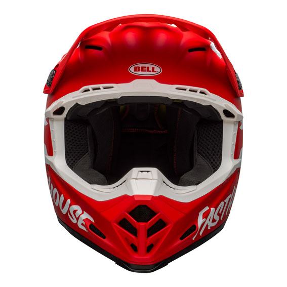 Bell Moto-9 Mips Fasthouse Signature Helmet Red/White - bell moto 9 mips dirt helmet fasthouse signia matte red white front