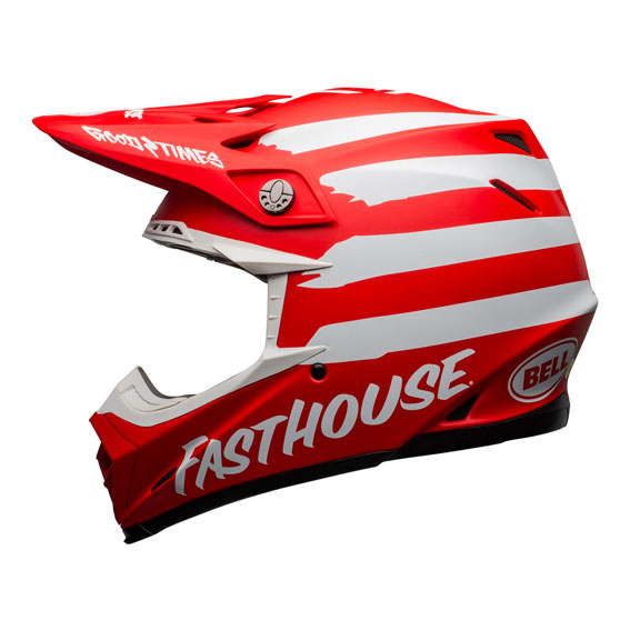 Bell Moto-9 Mips Fasthouse Signature Helmet Red/White - bell moto 9 mips dirt helmet fasthouse signia matte red white left