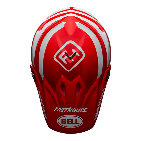 Bell Moto-9 Mips Fasthouse Signature Helmet Red/White - bell moto 9 mips dirt helmet fasthouse signia matte red white top