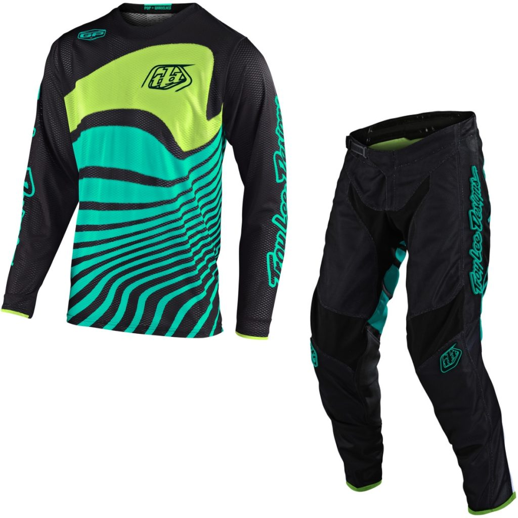 Black//Turquoise Sz S Troy Lee Designs GP Air Drift Vented Youth Motocross Jersey