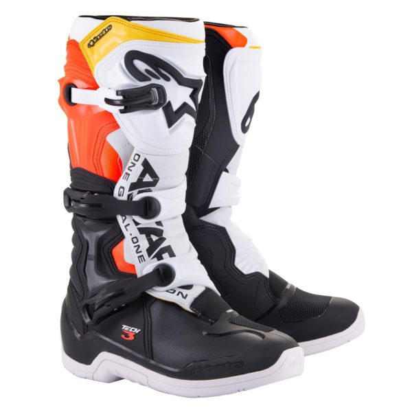 Alpinestars Tech 3 Boots Black/White/Red Flo - 2013018 1238 fr tech 3 boot web 54c7a5b4 8220 40e2 a191