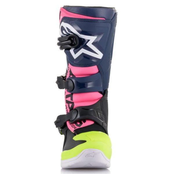 Alpinestars Tech 3s YOUTH Boot Black/Blue/Pink Flo - 2014018 1176 r1 tech 3s youth boot