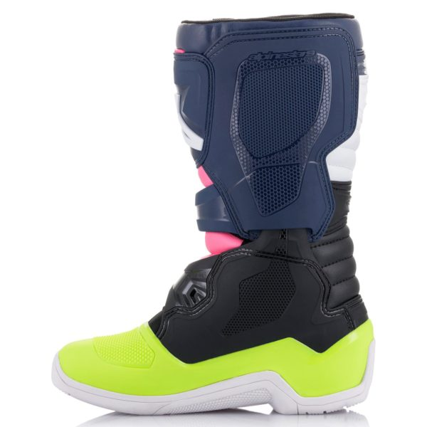 Alpinestars Tech 3s YOUTH Boot Black/Blue/Pink Flo - 2014018 1176 r2 tech 3s youth boot web 80c1be0b 4f5d 4346 8d54