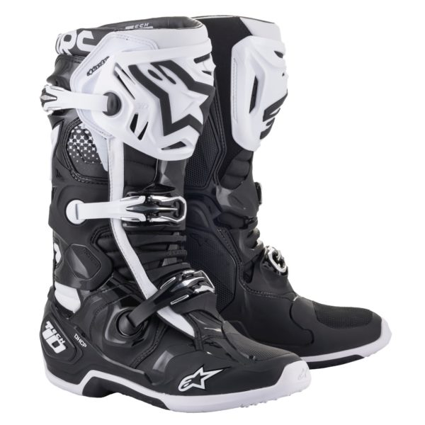 Alpinestars Tech 10 Boots Black/White - Large 2010020 12 fr tech 10 boot 1796x2000 1
