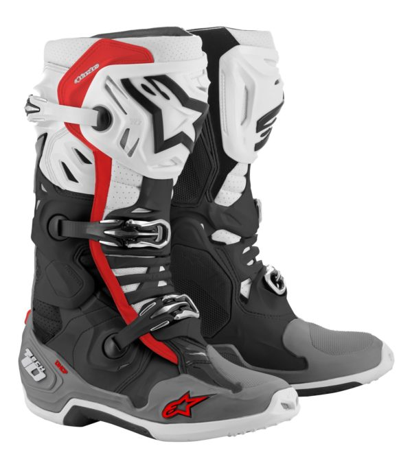 Alpinestars tech 10 supervented boots black/white/grey/red - large 2010520 1213 fr tech 10 supervented