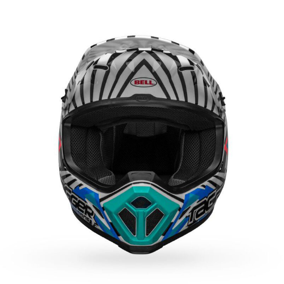 Bell mx-9 mips check me out helmet white/black - bell mx 9 mips dirt motorcycle helmet tagger check me out gloss black white front