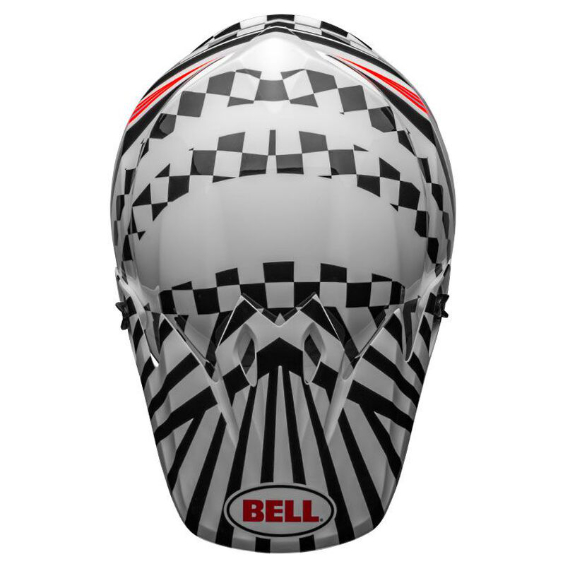 Bell mx-9 mips check me out helmet white/black - bell mx 9 mips dirt motorcycle helmet tagger check me out gloss black white top