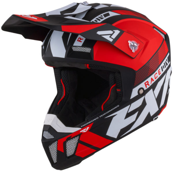 2021 fxr clutch boost helmet red - clutchboost helmet red 210619  2000 front
