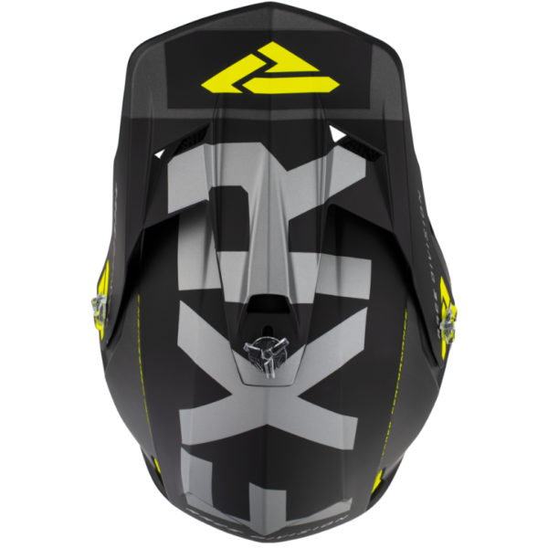 2021 fxr clutch evo helmet black/charcoal/hi-vis - clutchevo helmet blackcharhivis 200609  1065 top